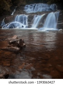 A beautiful Cascading  Waterfall in a jungle called Sinharaja