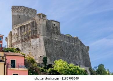 The beautiful castle of Lerici, La Spezia, Liguria, Italy