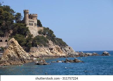 Beautiful castle in Lloret de Mar, Costa Brava district, Spain