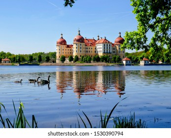 the beautiful castle of Moritzburg in saxony, germany