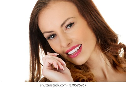 Beautiful casual smiling woman.