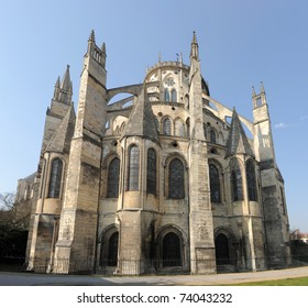 beautiful Cathedral of Bourges in Languedoc Roussillon