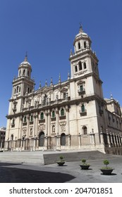 The beautiful cathedral of Jaen, Spain