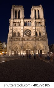The beautiful cathedral of Notre Dame in the city of Paris - Europe