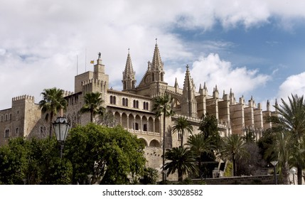 The beautiful Cathedral in Palma Mallorca Spain