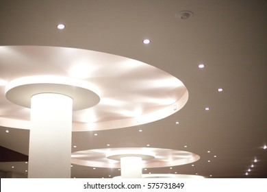 Beautiful ceiling with LED lighting