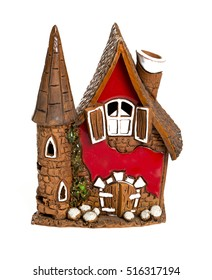 beautiful ceramic candle house