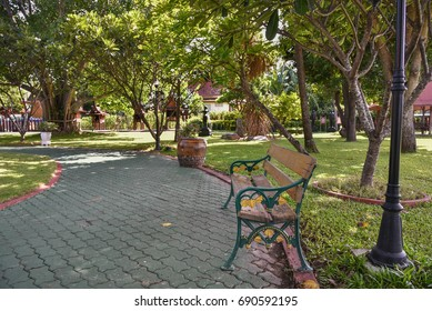 A beautiful chair in the garden.