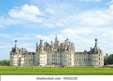Beautiful Chambord castle, Loire valley, France
