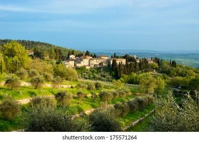 Beautiful Chianti landscape, Tuscany, Italy