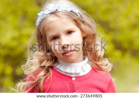 Beautiful Child 45 Year Old Girl Stock Photo Edit Now 273649805