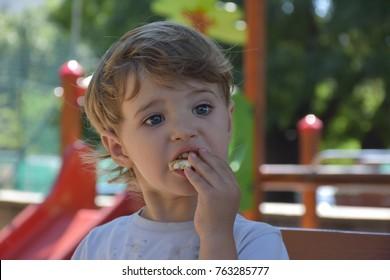 beautiful child playing,
