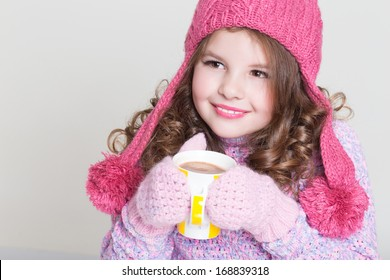 7f01bab43d09 Cute Little Girl Toy Mirror Lipstick Stock Photo (Edit Now ...