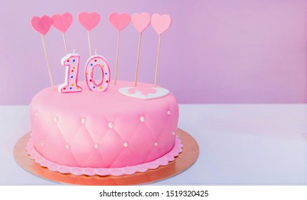 Stupendous 10 Year Birthday Cake Stock Photos Images Photography Birthday Cards Printable Giouspongecafe Filternl