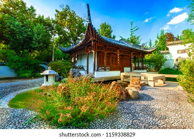 Beautiful china garden in the center of Stuttgart