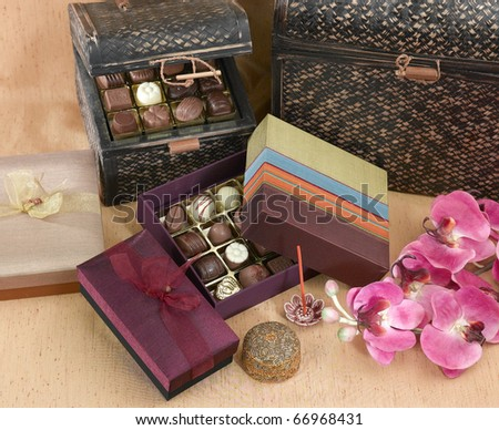 Beautiful Chocolate Gift Set Box On Stock Photo Edit Now 66968431