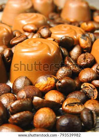Beautiful Chocolates Coffee Beans Stock Photo Edit Now 793539982