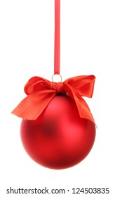 beautiful christmas ball, isolated on white