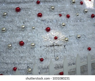 Beautiful Christmas decoration abstract background stock photograph