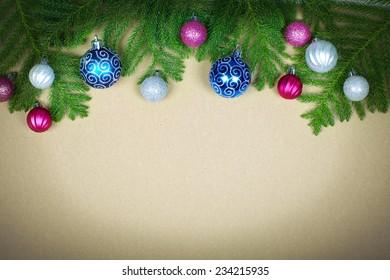 Beautiful Christmas decoration background. Xmas and new year.