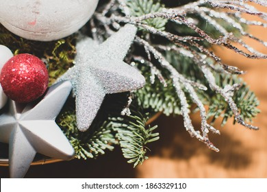 Beautiful christmas decoration, close up detail