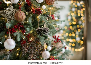 Beautiful christmas decoration. Holiday concept.