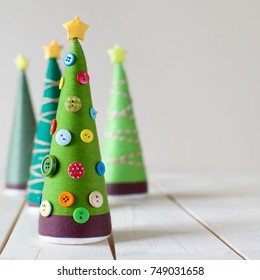 Beautiful Christmas gifts. Homemade Christmas trees. Decor and decoration.