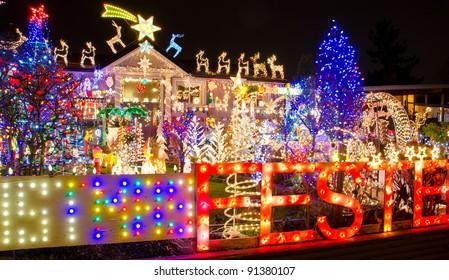 Beautiful Christmas lights home
