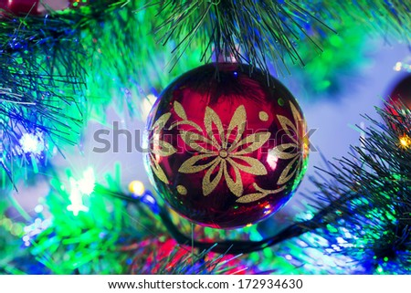 beautiful christmas ornaments on the christmas tree - Beautiful Christmas Ornaments