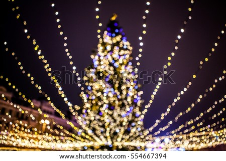 beautiful christmas tree in the glow bokeb background - Beautiful Christmas Images