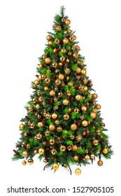 Beautiful christmas tree isolated on white background