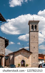 The beautiful church of Saints Peter and Biagio of Cividale del Friuli, Udine, Friuli Venezia Giulia, Italy