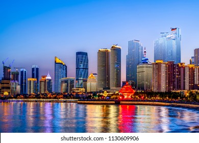 The beautiful city architectural landscape of Qingdao