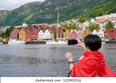 Beautiful city of Bergen in Norway