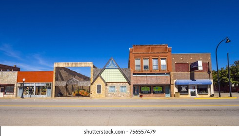 The beautiful city center of Stroud - a small town in Oklahoma - STROUD / OKLAHOMA - OCTOBER 16, 2017