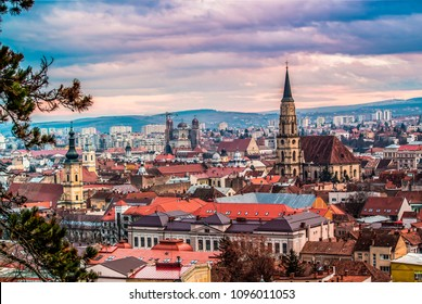 Beautiful city of Cluj Romania during spring time