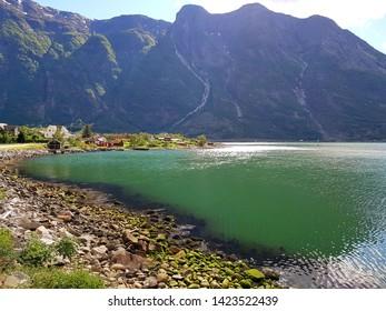 Beautiful city of Eidfjord in Norway