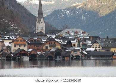 beautiful city hallstatt landscape in austria