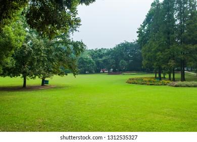 Beautiful city park scene