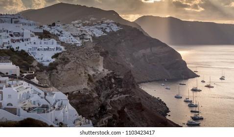 beautiful city ,Santorini , greece
