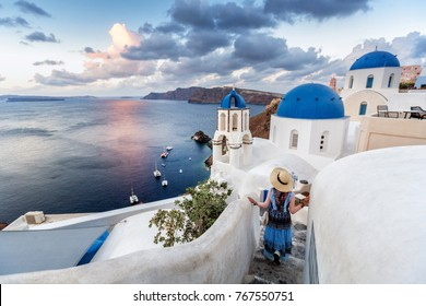 beautiful city ,Santorini , greece