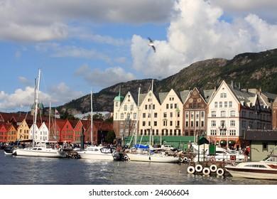 beautiful city view of Bergen