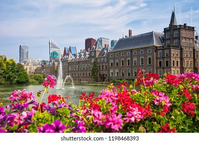 Beautiful city view of The Hague city in Netherlands