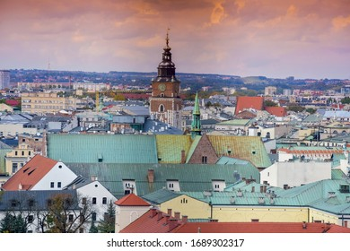 A Beautiful City View Of Kraków In Poland. Kraków Is The Second Largest And One Of The Oldest Cities In Poland As Well Kraków Was The Official Capital Of Poland Until 1596