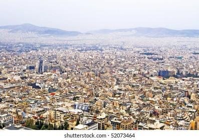 Beautiful cityscape of Athens, Greece