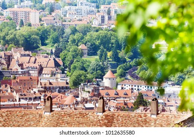 Beautiful cityscape of Besancon in summer, France