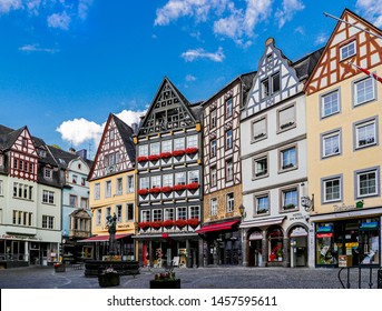 The beautiful cityscape of Cochem, Germany on summerday , 20 July 2019