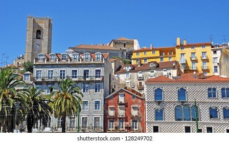 beautiful cityscape with Se Cathedral in Lisbon, Portugal