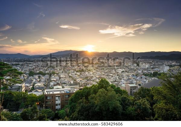 Beautiful Cityscape with Sunset.