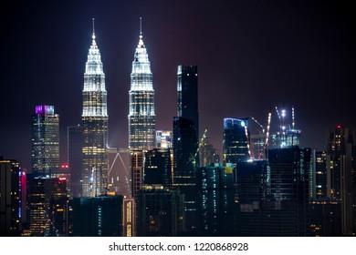 Beautiful cityscape view of kuala lumpur centre ,Malaysia.